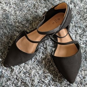 Call It Spring   black strappy flats